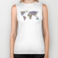decal Biker Tanks featuring Overdose World by Bianca Green