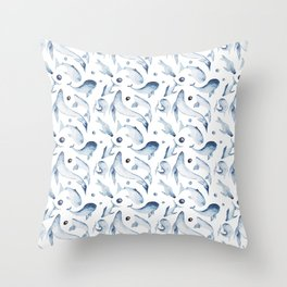 marine print // whales // anchors // for sailors // for sea lovers // save whales Throw Pillow