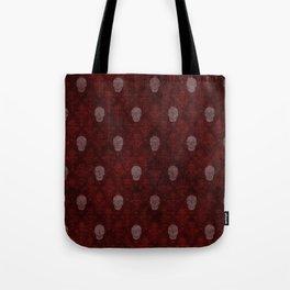 Victorian Skulls Red Tote Bag