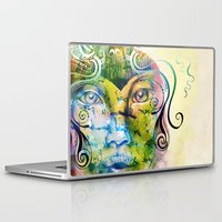 fairy tale Laptop & iPad Skins featuring Fairy Tale by Irmak Akcadogan
