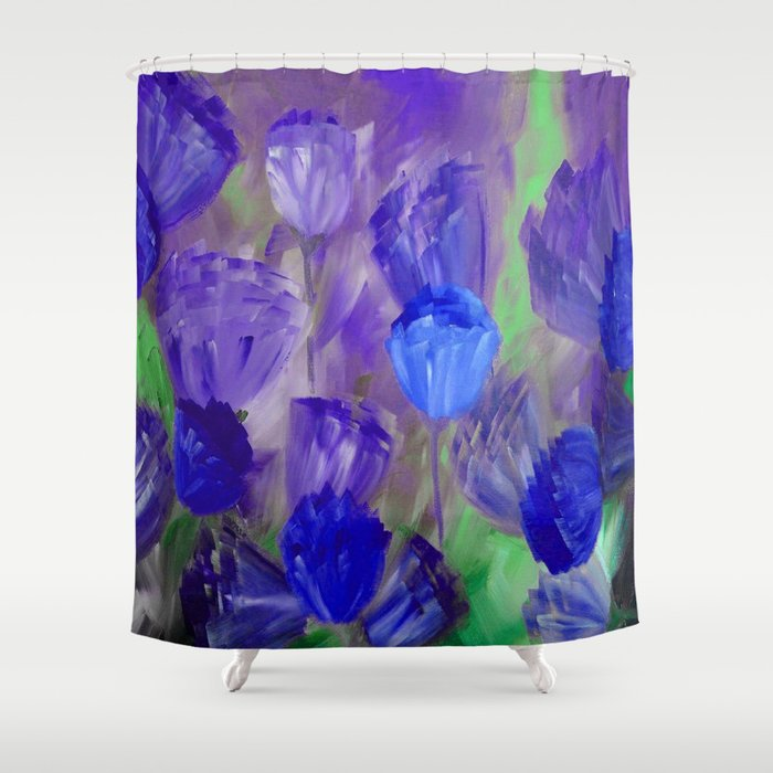 Breaking Dawn In Shades Of Deep Blue And Purple Shower Curtain