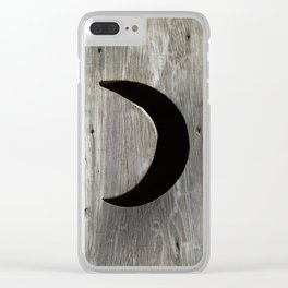 Outhouse Moon Clear iPhone Case