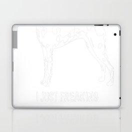 American-Hairless-Terrier-tshirt,-just-freaking-love-my-American-Hairless-Terrier Laptop & iPad Skin