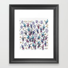 abstract flower meadow Framed Art Print