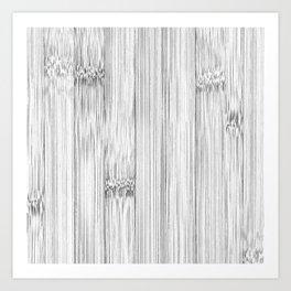 Cool gray bamboo wood print Art Print