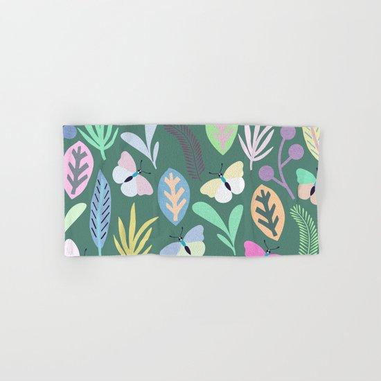 Flower and Butterfly III Hand & Bath Towel