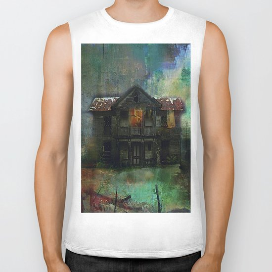 Haunted house Biker Tank
