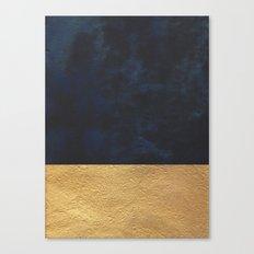 Color Blocked Gold & Cobalt Canvas Print