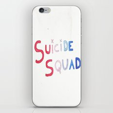 SUICIDE SQUAD WATERCOLOR TYPOGRAPHY iPhone & iPod Skin