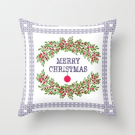 Christmas . Congratulations gifts. Throw Pillow