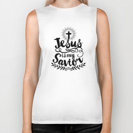 Jesus is my Savior Biker Tank