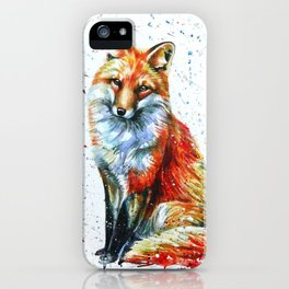 FOX 2 watercolor iPhone Case