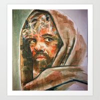 tyrion Art Prints featuring Tyrion  by scott bratek