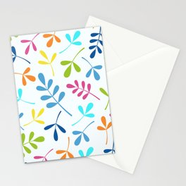 Multicolored Assorted Leaf Silhouettes Stationery Cards