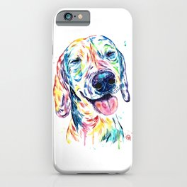 Dachshund - Colorful Watercolor Dog Pet Portrait Painting iPhone Case