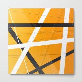 Orange Criss Cross Metal Print