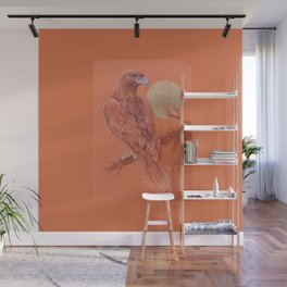 Golden Eagle Fancy Illustration of fairy tale Pastel drawing Wall Mural