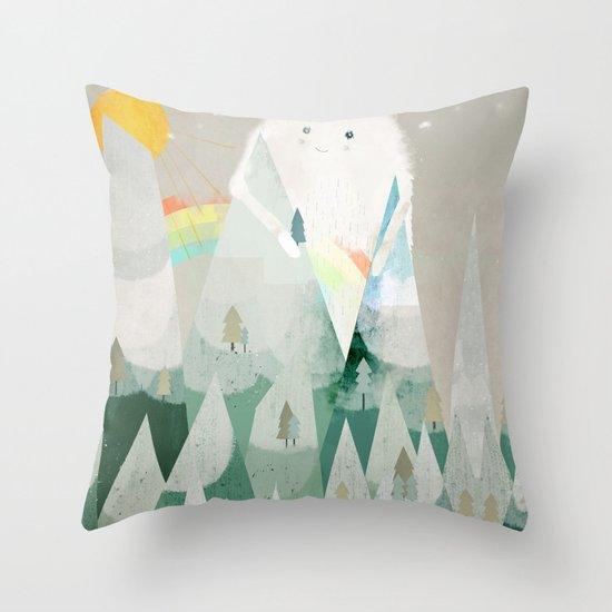 the rainbow critter Throw Pillow