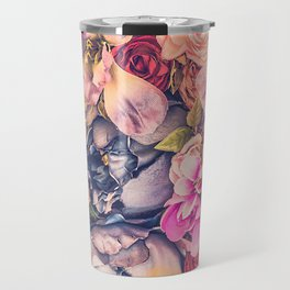 Beautiful background with different flowers Travel Mug