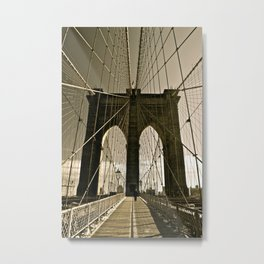Brooklyn Bridge in Tone Metal Print