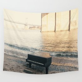 east river piano Wall Tapestry