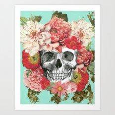 Frida Kahlo Skull Art Print