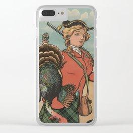 Vintage Thanksgiving Turkey Hunt (1904) Clear iPhone Case