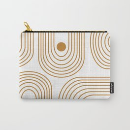 Lines and Circles in Goldenrod Carry-All Pouch