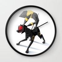 umbreon Wall Clocks featuring Umbreon by Versiris