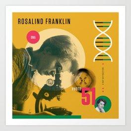 Beyond Curie: Rosalind Franklin Art Print