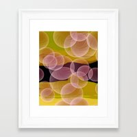 bubbles Framed Art Prints featuring Bubbles by lillianhibiscus
