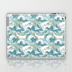 Whales and waves pattern Laptop & iPad Skin