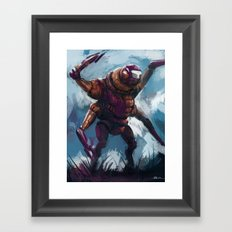 Quad armed mech Framed Art Print