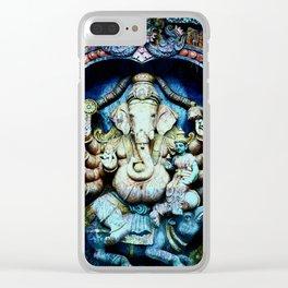 Boho Ganesha and Krishna Clear iPhone Case