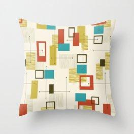 Mid Century Modern, Sputnik Pattern Throw Pillow