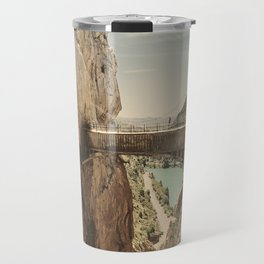 """The most dangerous trail in the world"". El Caminito del Rey Travel Mug"