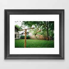 hanging line on film Framed Art Print
