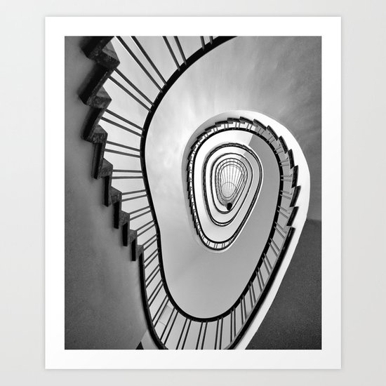 Upstairs Art Print