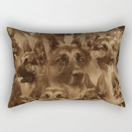 German Shepherd Dog collage Rectangular Pillow