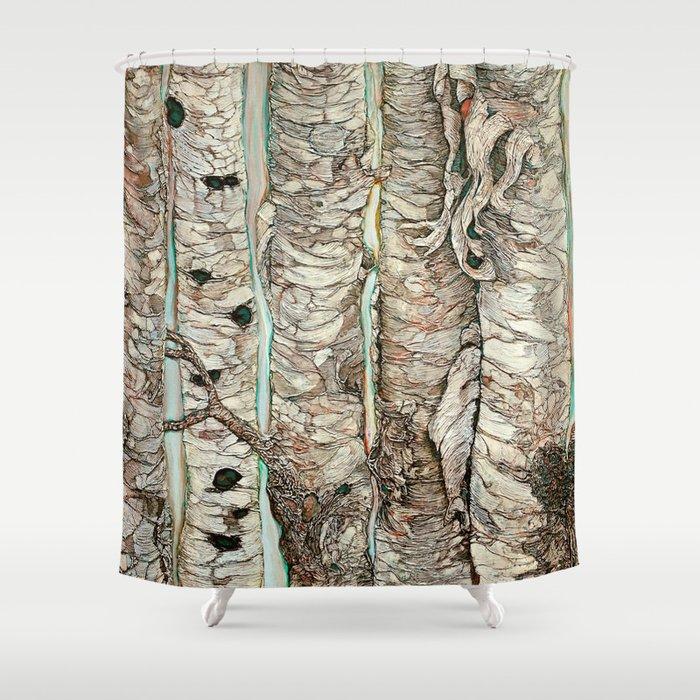 Birchen Forest Shower Curtain