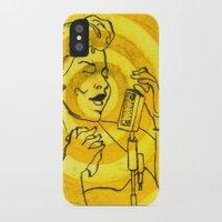 fitzgerald iPhone & iPod Cases featuring Ella Fitzgerald by Cristina Curto