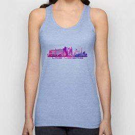 Las Vegas skyline purple Unisex Tank Top