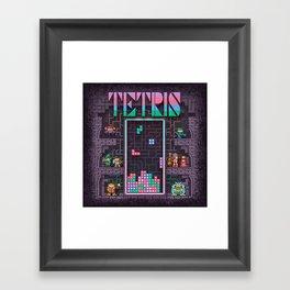 Tetrominoes Framed Art Print