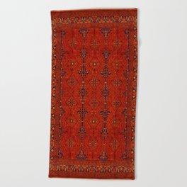N194 - Red Berber Atlas Oriental Traditional Moroccan Style Beach Towel