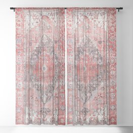 Vintage Anthropologie Farmhouse Traditional Boho Moroccan Style Texture Sheer Curtain