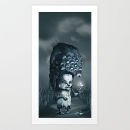 Annie in the Fields of Melancholy Art Print