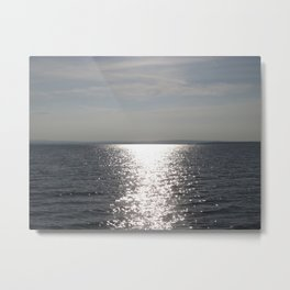 Silver Sun Metal Print