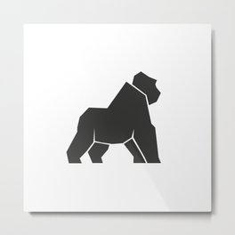 Geometric gorilla icon Metal Print
