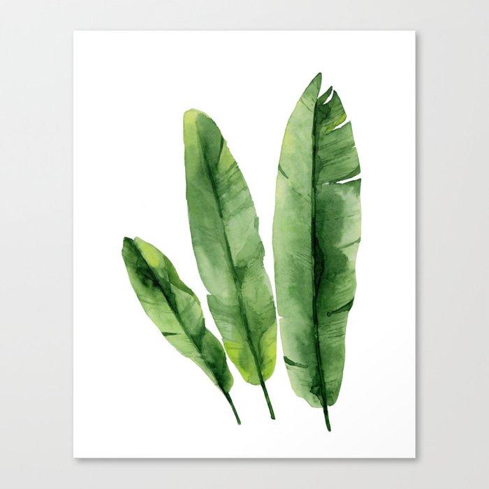 Banana Leaves Canvas Print By Asolo Society6