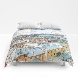 Panoramic of Genoa Comforters